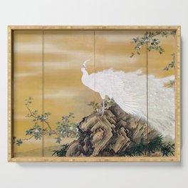 Mochizuki Gyokkei White Peafowl Serving Tray