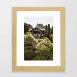 Lake house/villa at lake Palic, Serbia Framed Art Print
