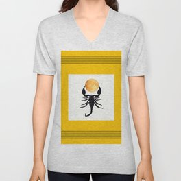 A Scorpion With The Moon In The Frame #decor #society6 #buyart Unisex V-Neck