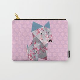 Origami Puppies With Purple Background Carry-All Pouch