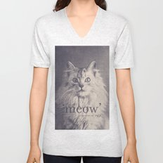 Famous Quotes #2 (anonymous cat, 1952) Unisex V-Neck