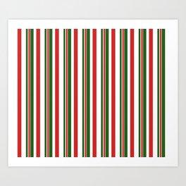 Candy Cane Stripes 2 Art Print