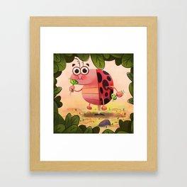 Hungry ladybird Framed Art Print