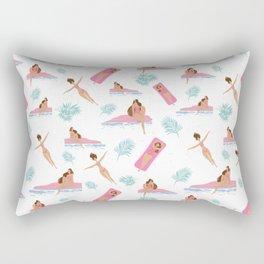 Enjoy Summer on The Pool Rectangular Pillow