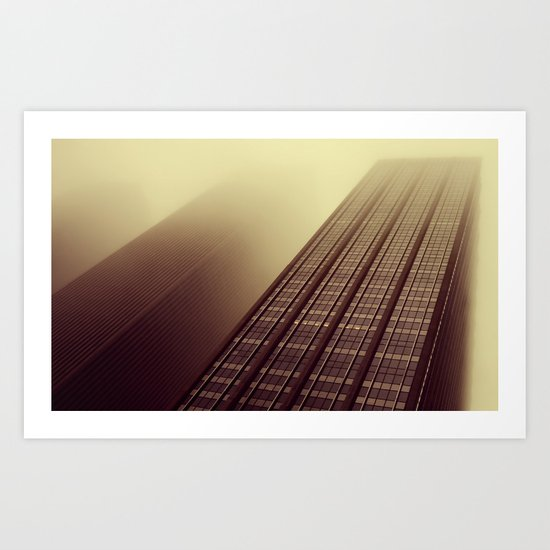 Disappearing act Art Print