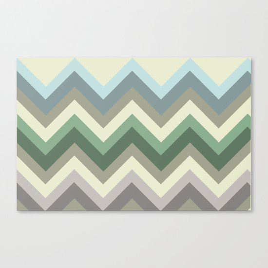 pastel chevron Canvas Print