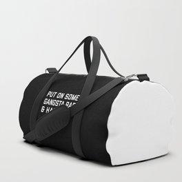 Gangsta Rap Funny Quote Duffle Bag