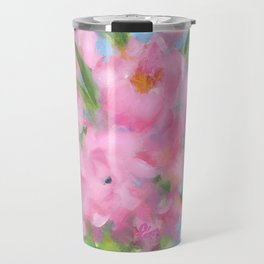 Teacup Pinks Travel Mug