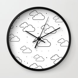 Head in the Clouds Throw Pillow Wall Clock