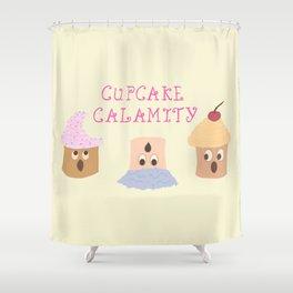 Cupcake Calamity Shower Curtain