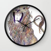 beast Wall Clocks featuring Beast by Taylor Mleigh