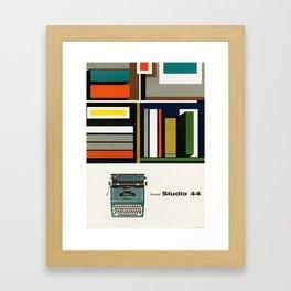 Olivetti Studio 44 - Vintage Poster Framed Art Print
