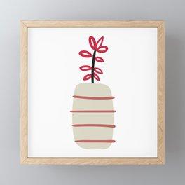 Flwoer vase Framed Mini Art Print