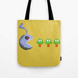 March of Progress | videogame #tribute | #pixelart Tote Bag