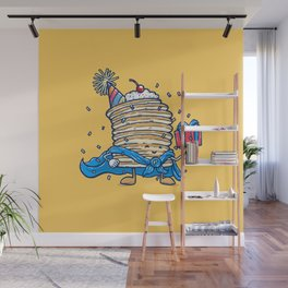 Captain Birthday Pancake Wall Mural