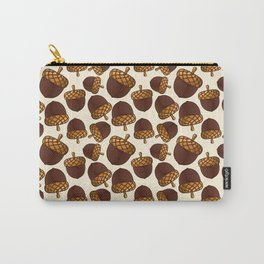 Autumn Acorn Pattern Carry-All Pouch