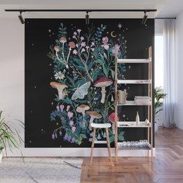 Night Mushrooms Wall Mural