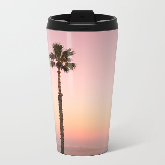 Stand out - ombré pink Metal Travel Mug