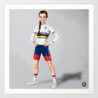 Lizzie Armitstead - world champ Art Print