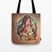 stickers Tote Bags featuring Choose Your Own Path by Tim Shumate