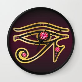 Eye of Ra Ruby Wall Clock