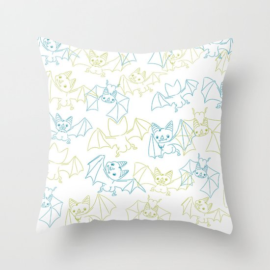 Bat Butts! Throw Pillow