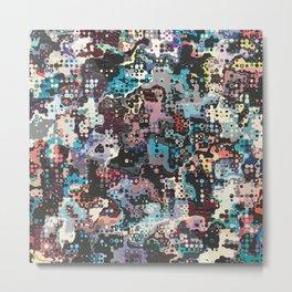 Colorful Plastics Abstract Metal Print