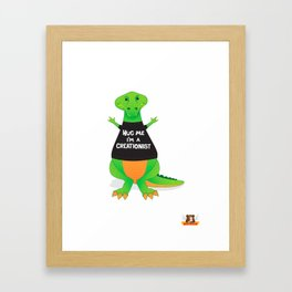 Hug Me, I'm a Creationist Framed Art Print