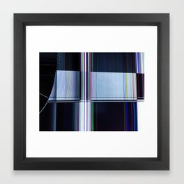 Cracked LCD #3 Framed Art Print