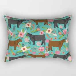 Angus cattle farm friendly gifts perfect for homesteader homestead lover Rectangular Pillow