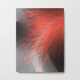 Salmon Splash - Fractal Art  Metal Print