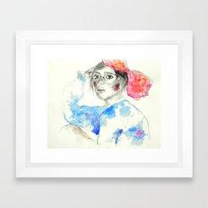 Caught In Headlights Framed Art Print