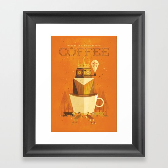 The Coffee Godess Framed Art Print