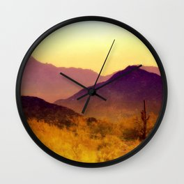 Painted Desert Wall Clock