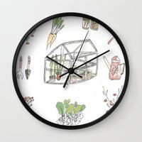 calendar Wall Clocks featuring Calendar Garden`15 by Inga Provorova
