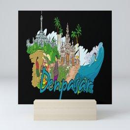 Denpaser Indonesia Mini Art Print