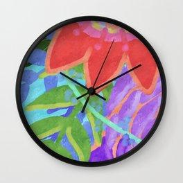 Bloom 2 Abstract Digital Painting Wall Clock
