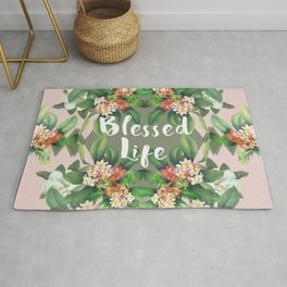 Blessed Life (pink version) Rug