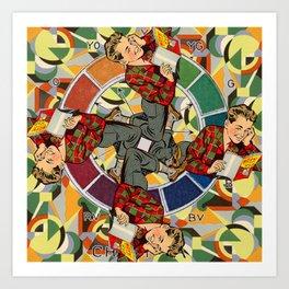 Wheel of Boyhood Art Print