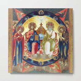 New Testament Trinity Russian Orthodox Metal Print
