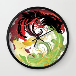 The Wolf and the Halla Wall Clock