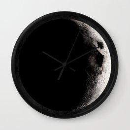 Crescent Moon Poster, Moon Art Print, Square Moon Print, Wall Art, Home Decor, Luna Poster, Moon Print, Lunar Moon Print, Luna Moon, Waxing Crescent Moon, Black and White, Crescent Moon Art Print, Moon Phase Wall Clock