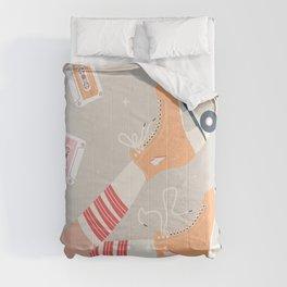Roller skate girl 003 Comforters
