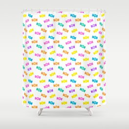 Cute Rainbow Candy Shop Pattern – Pastel Colors Shower Curtain