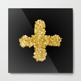 Positive thoughts- Gold Metal Print