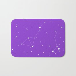 Ultra Violet Night Sky Bath Mat