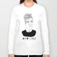 david lynch Long Sleeve T-shirts featuring David Lynch by Elena Éper