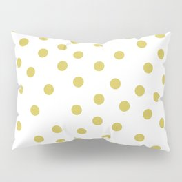 Simply Dots in Mod Yellow on White Pillow Sham
