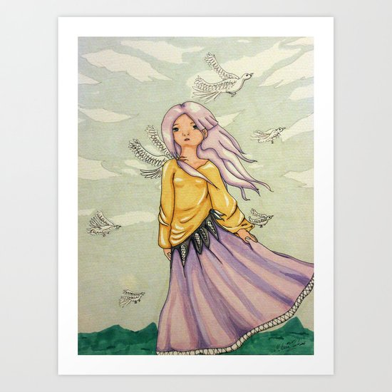 We Angels Don't Fly Art Print