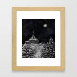 Ankenes church Framed Art Print